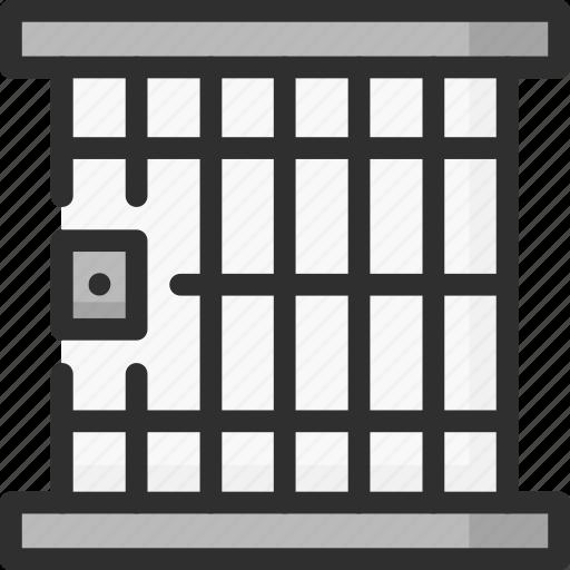 bars, jail, justice, law, prison icon