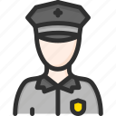 justice, law, officer, police, protection, security icon