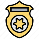 badge, law, police, security, symbolic icon