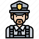 crime, man, police, protection, security icon