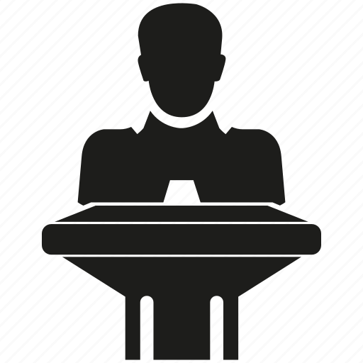 man, speaker icon