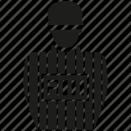 captive, convict, detainee, prisoner, suspect icon