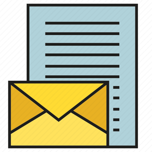 document, email, envelope, letter, mail, send icon