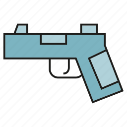 ammunition, armor, arms, evidence, gun, weapon icon