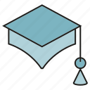 education, graduation cap, student icon