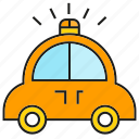 car, crisis, emergency, police car, transportation, vehicle icon