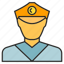constable, cop, officer, police icon