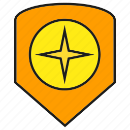 police, protect, security, shield, star icon