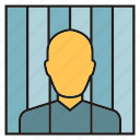 captive, convict, detainee, hostage, jail, prison, prisoner icon
