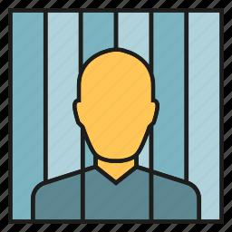 captive, convict, detainee, hostage, jail, prison, prisoner icon