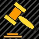 bid, gavel, hammer, justice, law icon