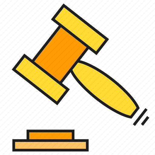 bid, gavel, hammer, justice, law icon