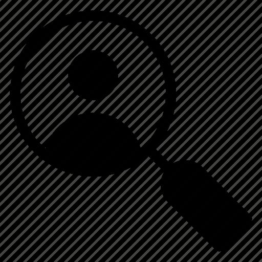 magnifier, profile, search, user icon