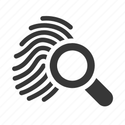 crime, fingerprint search, government, justice, law, raw, simple icon