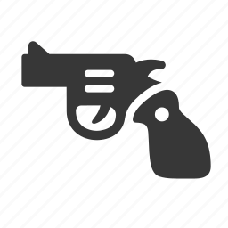 crime, government, gun, handgun, justice, law, pistol, raw, simple icon