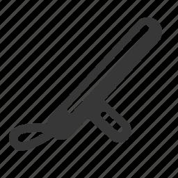 club, crime, government, justice, law, police baton, raw, simple icon