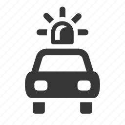 alarm, crime, government, justice, law, police car, raw, simple icon