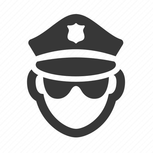 agent, cop, crime, government, justice, law, police officer, raw, simple icon