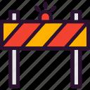 barrier, construction, repair, road