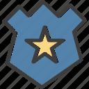 badge, law, nforcement, star