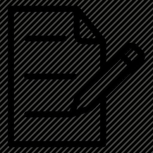 document, edit, pencil, write icon
