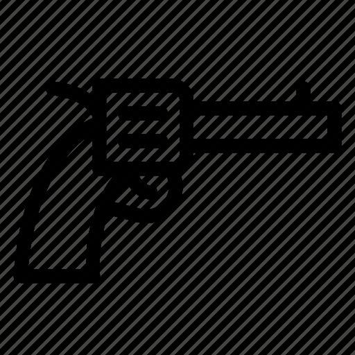 gun, pistol, revolver, weapon icon