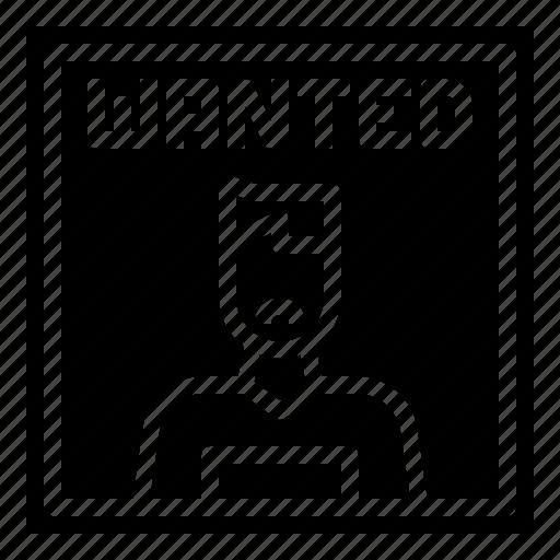 bandit, criminal, hacker, man, signaling, stick, wanted icon
