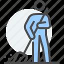 community, garbageman, punishment, service, street cleaner, sweeper dustman icon