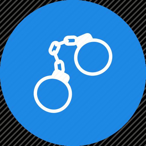 arrested, criminal, defense, handcuffs, justice, man, prison icon