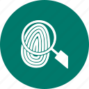 finger, fingerprint, identity, people, print, thumbprint, unique icon