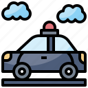 automobile, car, emergency, police, transportation icon
