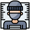 crime, criminal, mask, masked, people, robber icon