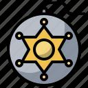 antivirus, badge, defense, police, secure, shield icon