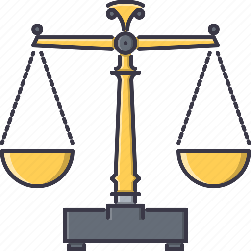court, jurisprudence, law, police, scales icon