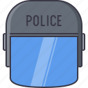 court, helmet, jurisprudence, law, police icon