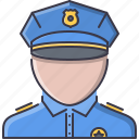 court, jurisprudence, law, police, policeman icon