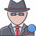 court, detective, jurisprudence, law, magnifier, police icon