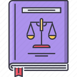 book, constitution, court, jurisprudence, law, police icon