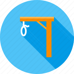 augustine, death, gallows, hanging, jail, noose, rope icon