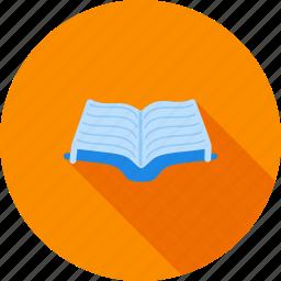 book, design, education, law, library, literature, open icon