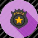 badge, emblem, enforcement, gold, law, police, sign