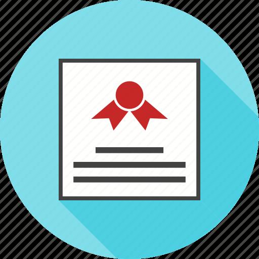 achievement, certificate, diploma, education, pattern, winner icon