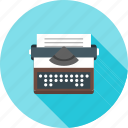 keyboard, office, type, typewriter, write, writer, writing icon