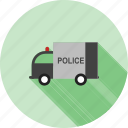 emergency, highway, police, security, truck, van, vehicle icon