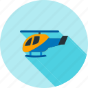 blue, chopper, flight, helicopter, police, sky, transportation icon