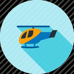 blue, chopper, flight, helicopter, police, sky, transportation icon
