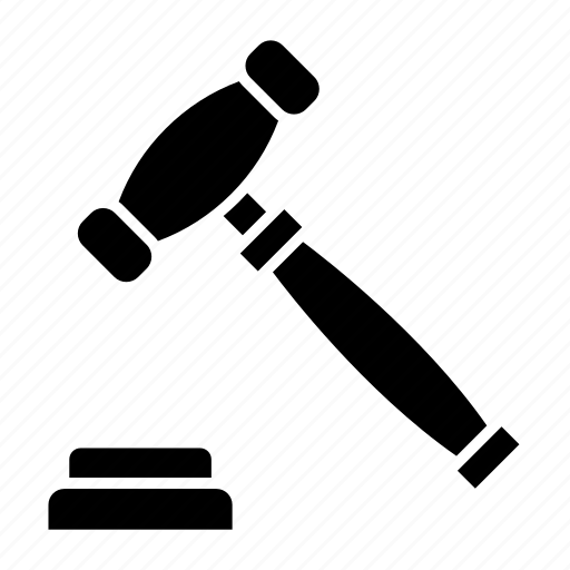 auction, business, law, legal, police, tool icon