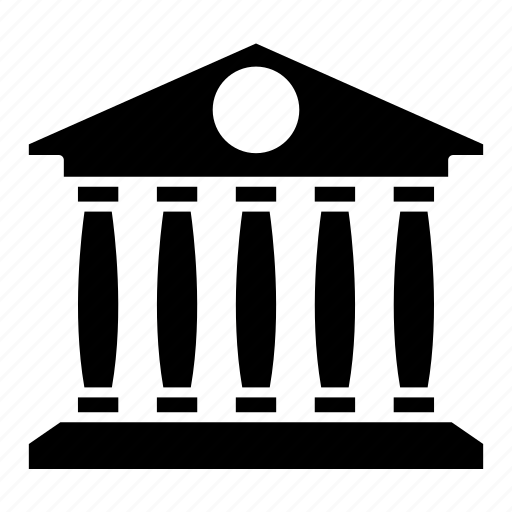 bank, building, courthouse, finance, money icon