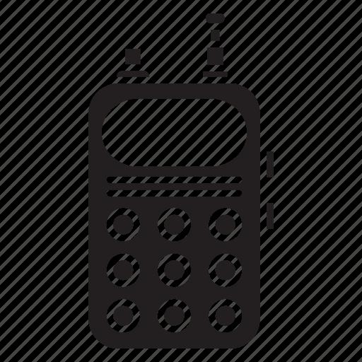 police, radio, service, set, speaker, work icon