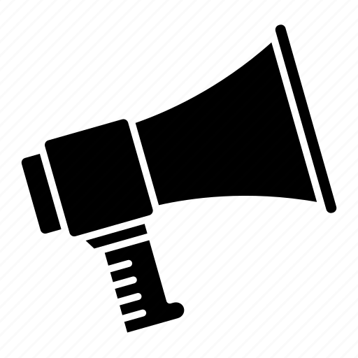 ads, advertisement, advertising, alarm, alert, announce, speaker icon